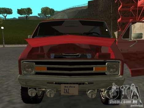 Dodge Tradesman 7z para GTA San Andreas traseira esquerda vista