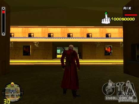Dante para GTA San Andreas terceira tela