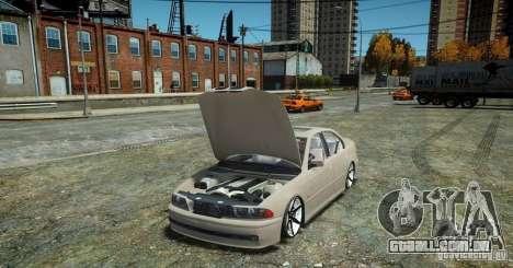 BMW 530i E39 para GTA 4 vista de volta