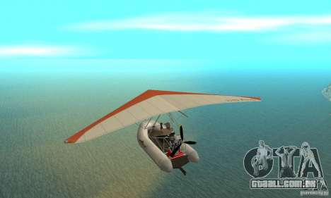 Wingy Dinghy (Crazy Flying Boat) para GTA San Andreas traseira esquerda vista