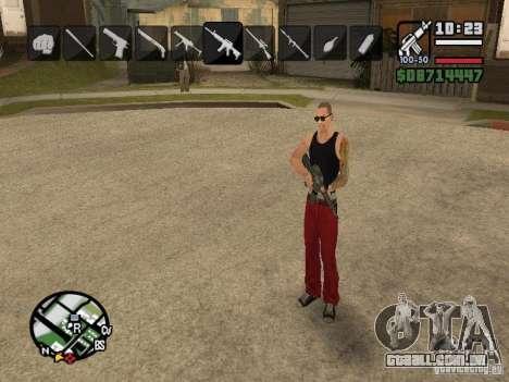 Ícones quando mudar de armas para GTA San Andreas sétima tela