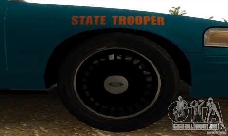 Ford Crown Victoria Georgia Police para GTA San Andreas traseira esquerda vista