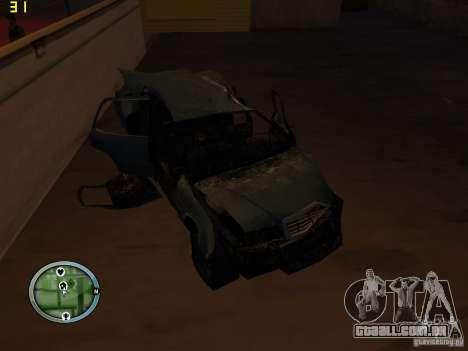 Carros quebrados na Grove Street para GTA San Andreas nono tela