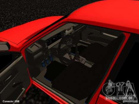 VAZ 2109 Opera Turbo para GTA San Andreas vista interior