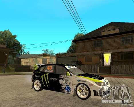 Ken Block Subaru Impreza WRX STi 2009 para GTA San Andreas vista direita