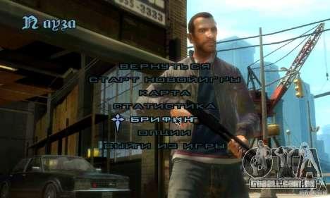 Menu no estilo do GTA 4 para GTA San Andreas segunda tela