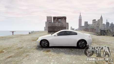 Infiniti G35 para GTA 4 esquerda vista