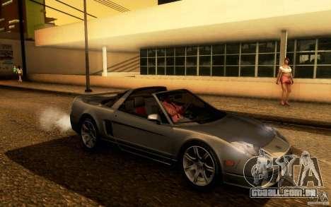 Acura NSX Targa para GTA San Andreas vista traseira