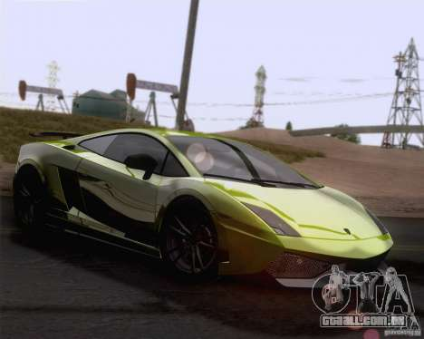 Lamborghini Gallardo LP570-4 Superleggera 2011 para GTA San Andreas vista superior