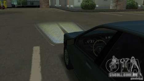 Faróis de halogéneo para GTA San Andreas quinto tela