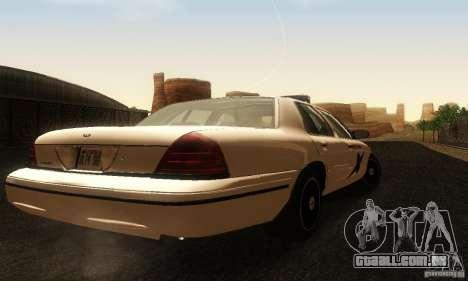 Ford Crown Victoria Washington Police para GTA San Andreas esquerda vista