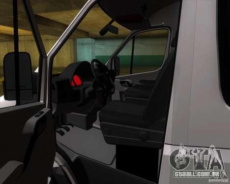 Mercedes-Benz Sprinter 311CDi para GTA San Andreas vista interior
