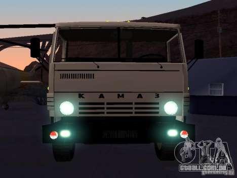 KAMAZ 53212 aberto para GTA San Andreas vista interior