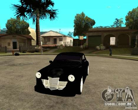 GAZ-M20 (ganhar) + tuning para GTA San Andreas vista traseira