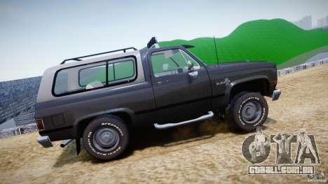 Chevrolet Blazer K5 Stock para GTA 4 esquerda vista