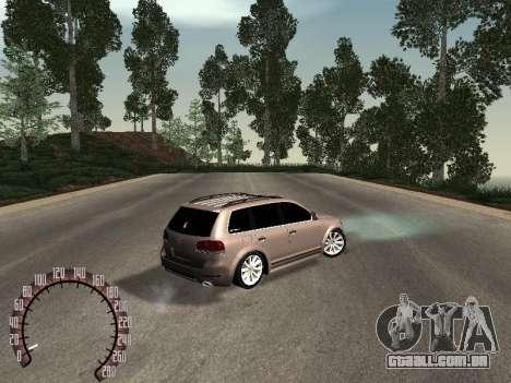 Volkswagen Touareg para GTA San Andreas traseira esquerda vista