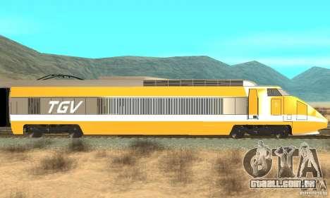 TGV SOUTH WEST para GTA San Andreas traseira esquerda vista