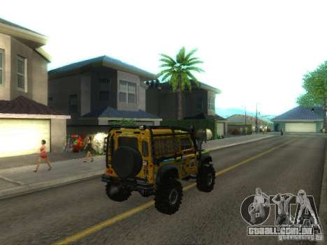 Land Rover Defender Off-Road para GTA San Andreas traseira esquerda vista