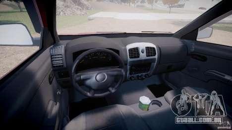Chevrolet Colorado 2005 para GTA 4 vista de volta