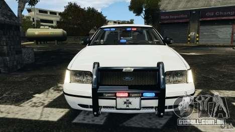 Ford Crown Victoria Police Unit [ELS] para GTA 4 vista inferior