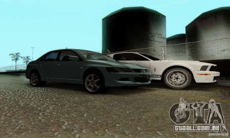 Mitsubishi Lancer Evolution 8 Tuneable para GTA San Andreas vista direita