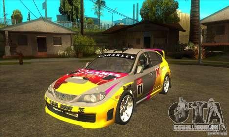Subaru Impreza WRX STi X jogos América de DIRT 2 para GTA San Andreas