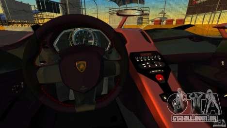 Lamborghini Aventador J [RIV] para GTA 4 vista de volta