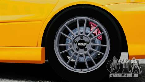 Mitsubishi Lancer Evolution IX MR para GTA 4 vista de volta