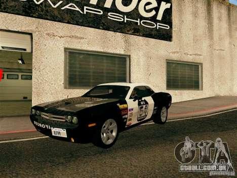 Dodge Challenger SRT8 para GTA San Andreas vista superior