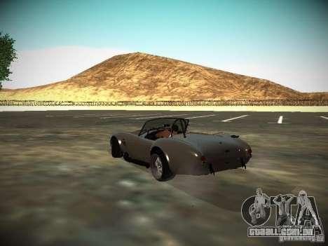 Shelby Cobra para GTA San Andreas traseira esquerda vista