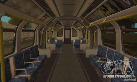 London Metro para GTA San Andreas traseira esquerda vista