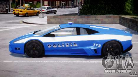 Lamborghini Reventon Polizia Italiana para GTA 4 vista inferior