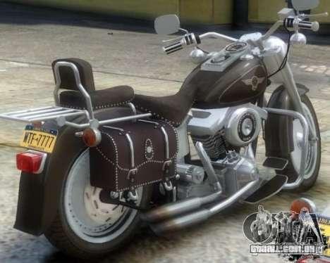 Harley Davidson FLSTF Fat Boy para GTA 4 traseira esquerda vista