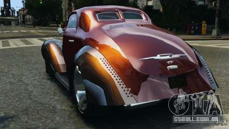 Walter Street Rod Custom Coupe para GTA 4 traseira esquerda vista