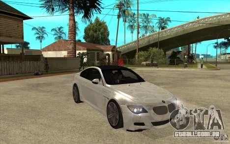 BMW M6 Coupe V 2010 para GTA San Andreas vista traseira