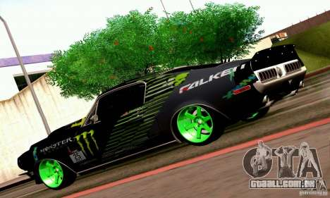 Shelby GT500 Monster Drift para GTA San Andreas vista interior
