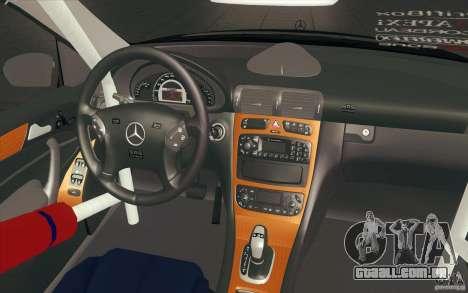 Mercedes-Benz C32 AMG Tuning para GTA San Andreas vista superior