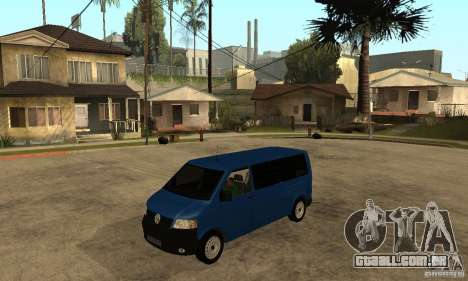 VW Transporter T5 2.5 TDI long para GTA San Andreas