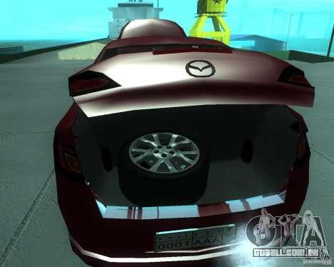 Mazda 6 2010 para GTA San Andreas vista traseira