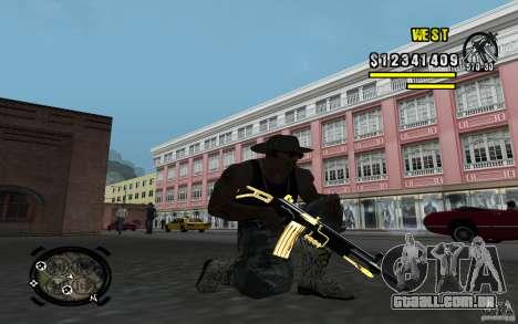 Gold Weapon Pack v 2.1 para GTA San Andreas por diante tela