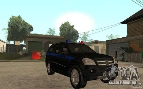 Mercedes Benz GL500 polícia para GTA San Andreas vista traseira