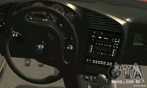 BMW M3 E36 para vista lateral GTA San Andreas