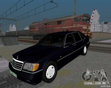 Mercedes-Benz W124 para GTA San Andreas esquerda vista