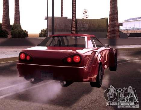 Elegy Wide Body para GTA San Andreas traseira esquerda vista