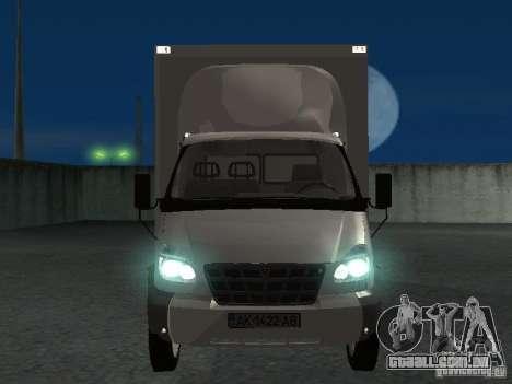 33102 Valday GAZ (longo) para GTA San Andreas vista interior