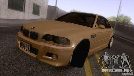 BMW M3 E48 para GTA San Andreas esquerda vista