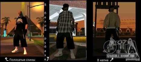 Novas skins do los Aztecas Gang para GTA San Andreas