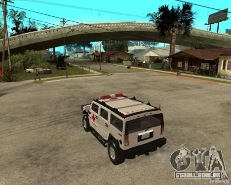 AMG H2 HUMMER - RED CROSS (ambulance) para GTA San Andreas esquerda vista