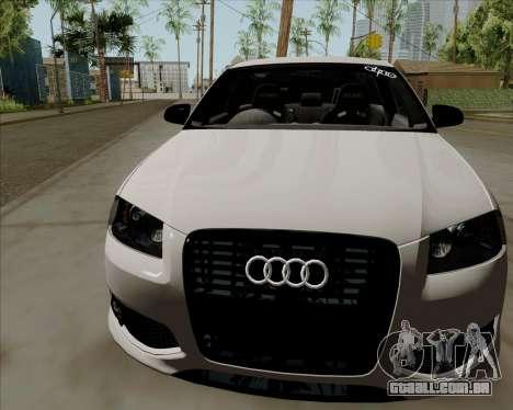 Audi S3 V.I.P para GTA San Andreas traseira esquerda vista