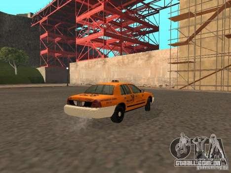 Ford Crown Victoria San Francisco Cab para GTA San Andreas vista traseira